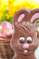 Easter bunny basket of eggs