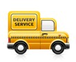 delivery service car vector