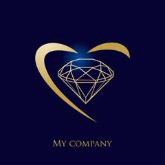 logo entreprise, logo diamant, bijouterie