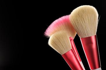 Make-up brushes close-up