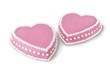 Two valentine cakes
