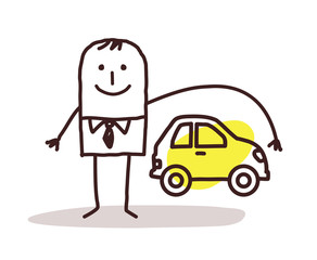 businessman and car insurance