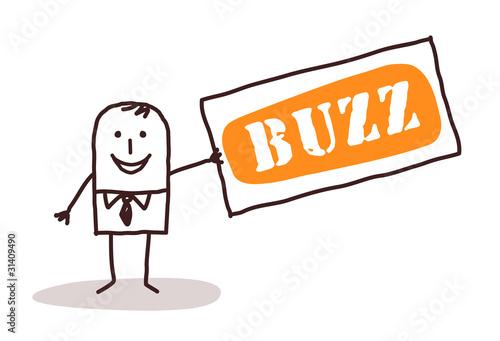 businessman and big buzz