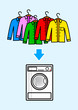Washer with color shirts
