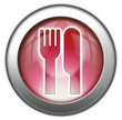"""Red glossy 3D effect button """"Eatery / Restaurant"""""""