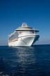 Leinwanddruck Bild - Cruise Ship Anchored in Caribbean Sea
