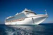 Leinwandbild Motiv Cruise Ship Anchored in The Caribbean