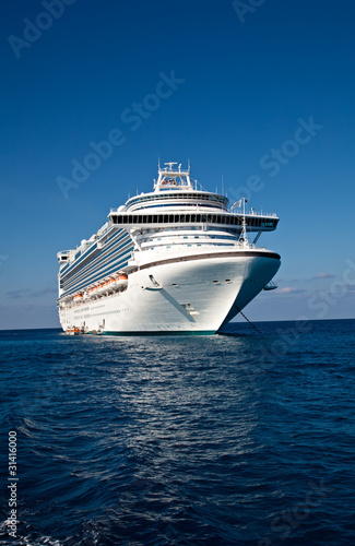 Cruise Ship Anchored in Caribbean Sea - 31416000