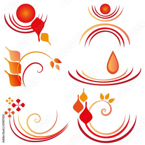 Plexiglas Spiraal rot-orange ornamente