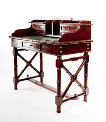 Antique desk with cabinets