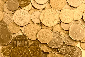 gold coins as a background