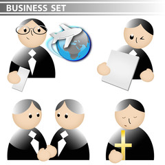 business set - geschäftsmänner