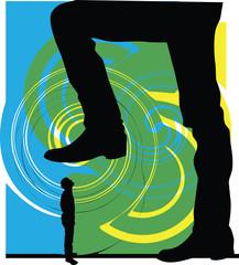Man power. vector illustration
