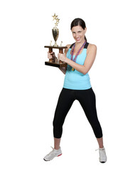 Woman with Trophy
