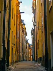 street of old town (Gamla Stan), Stockholm, Sweden