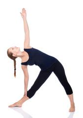 Yoga utthita trikonasana triangle pose