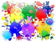 Macchie di Vernice Colori Sfondo-Colors Stains Background-Vector