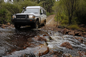 Driving Through A Stream