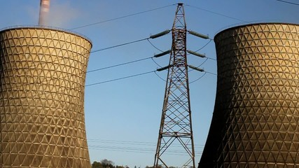 power plant and chimney