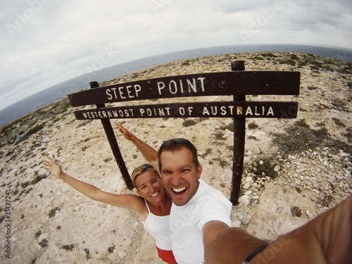 Couple Greeting At Steep Point