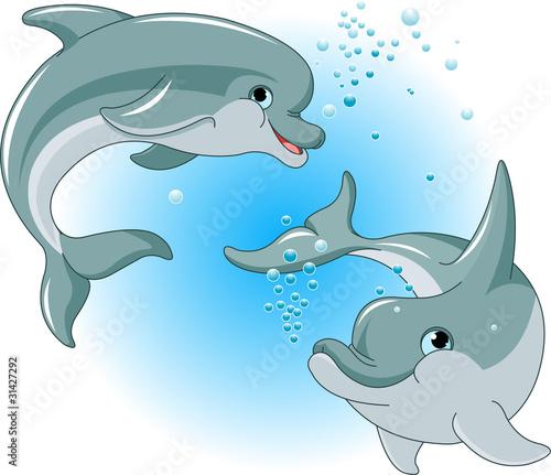 Aufkleber Tier - Aqua - Säugetiere