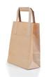 Angled brown paper bag
