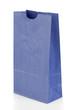 Angled blue paper bag