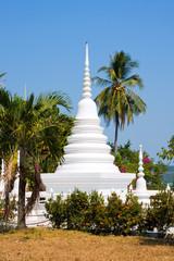 White buddhist stupa