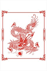 Chinese dragon lineart
