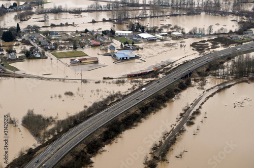 Foto op Aluminium Rivier Washington State Flood