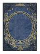 blue and gold old floral cover book - 31429447