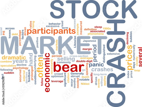 Stock market crash is bone background concept