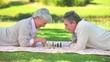 Mature couple playing chess