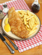 Fried Cod Fish & Chips Meal