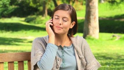Young woman on her mobile phone
