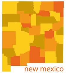 new mexico vector map