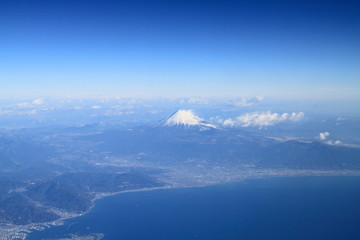 Mt.Fuji and the Pacific Ocean