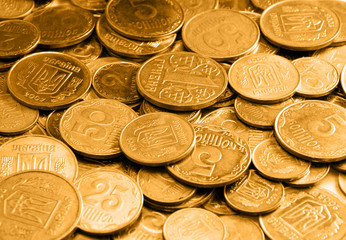 gold coins as a background or texture