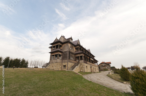old house in the Polish mountains