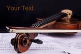 violin music string art instrument bow poster