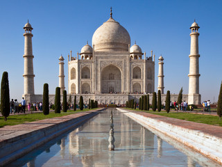 Classic View of Taj Mahal in Agra