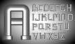 Funnels alphabet - 31439202