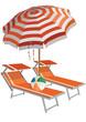 lettini e ombrellone