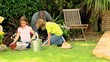 Whole family gardening