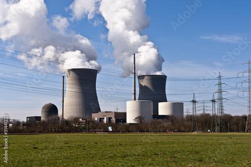 Leinwandbild Motiv Atomkraftwerk