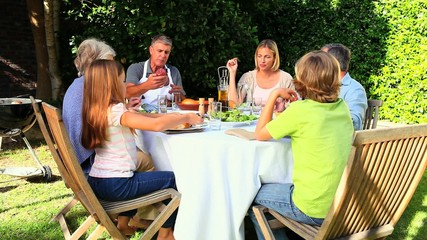 Family Barbecue in garden