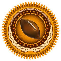 Illustrated stylish american football emblem.