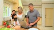 Cute family in the kitchen
