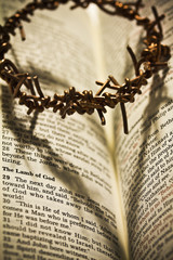 The Holy Bible and the Crown of Thorns