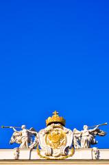 Blauer Himmel über Engeln